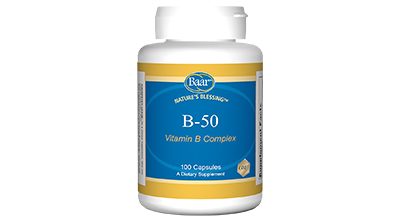 Edgar Cayce's Nature's Blessing Supplement Recommendations B-50 Vitamin B Complex