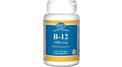 Edgar Cayce's Nature's Blessing Supplement Recommendations Vitamin B-12
