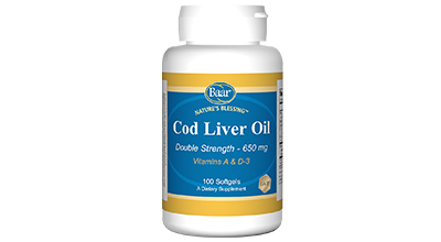 Edgar Cayce's Nature's Blessing Supplement Recommendations Cod Liver Oil