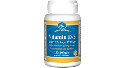 Edgar Cayce's Nature's Blessing Supplement Recommendations Vitamin D-3 5000 IU