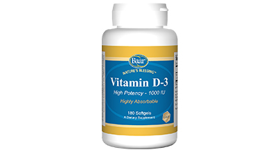 Nature's Blessing Vitamin D-3, 100 IU